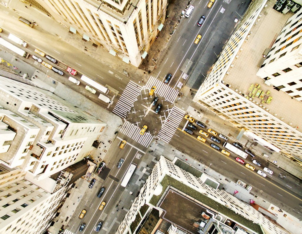 Aerial view of fifth avenue