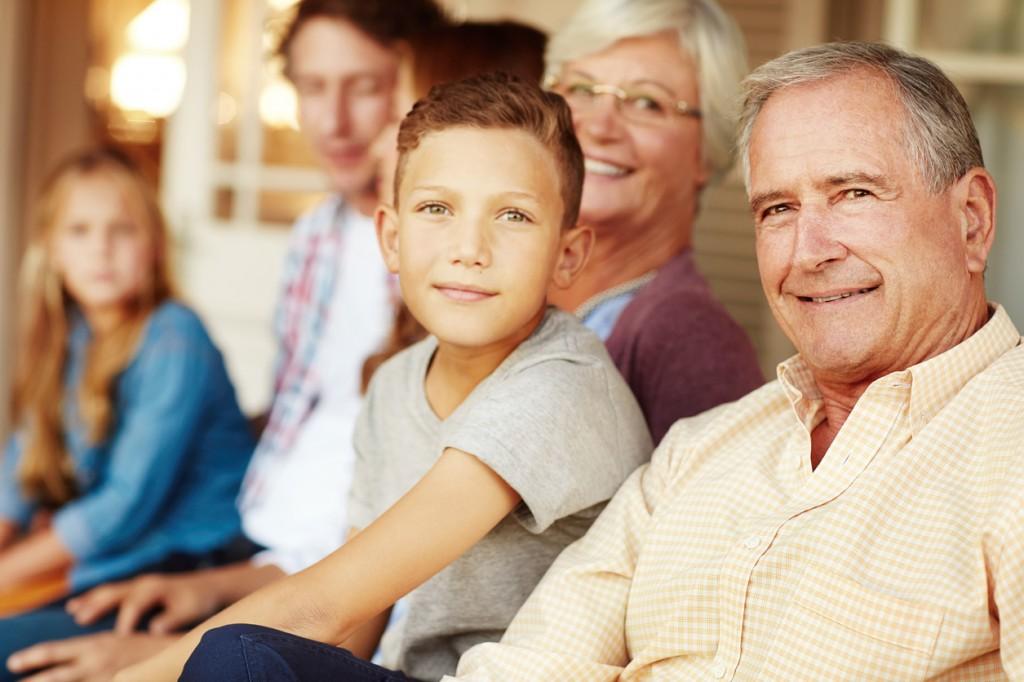 Portrait of a happy three generational family