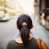 woman walking in florence street