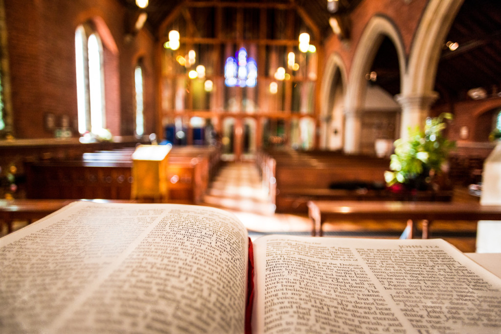 Open Bible on Altar inside Anglican Church