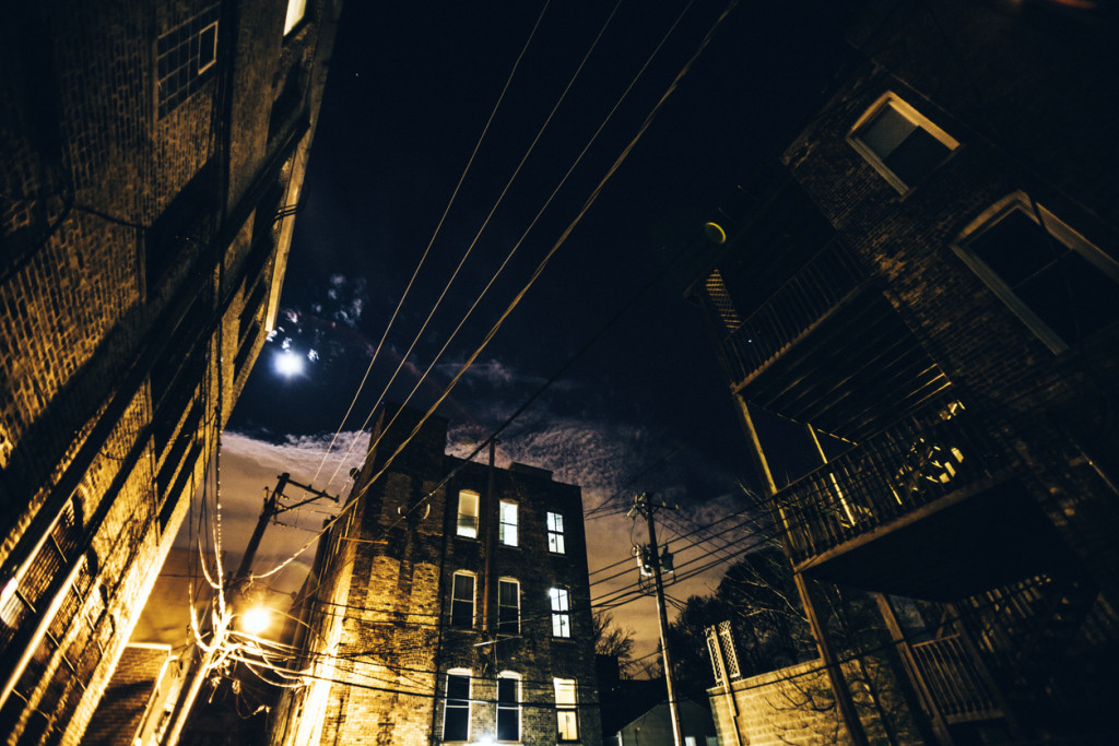 NIght in the city, Bucktown-Chicago.