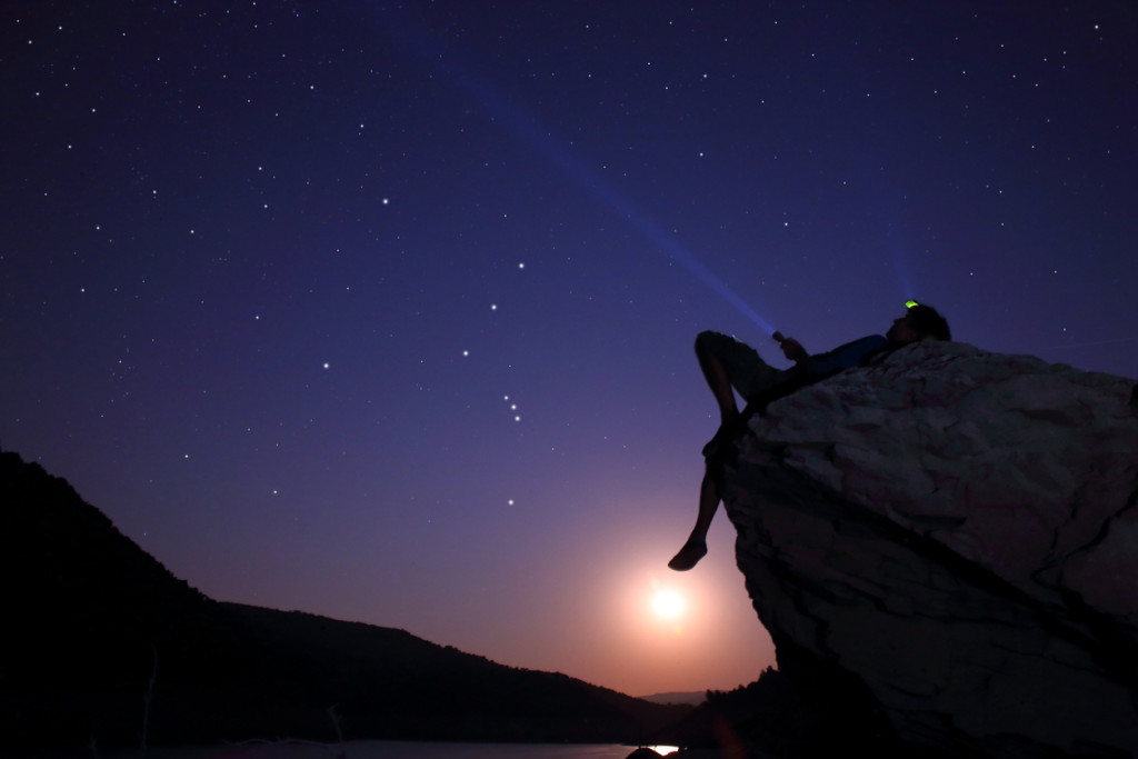 Man looking at the Star - Space.