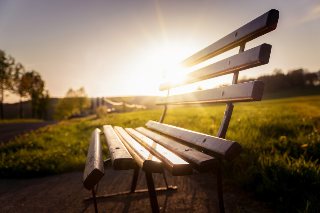 Park Bench at Sunset