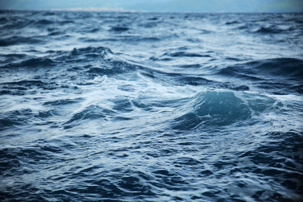 ocean waves during storm.