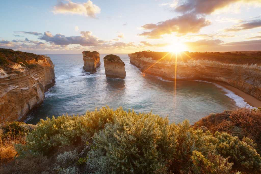 Lock Ard Gorge in Port Campbell National Park, Australia