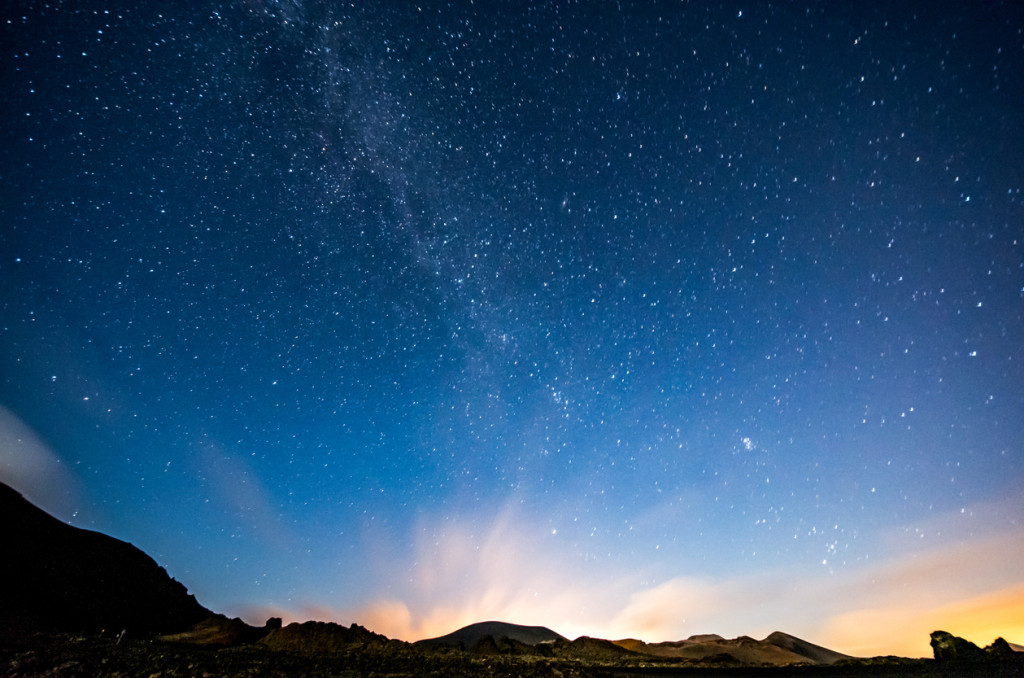 Milky way from Lanzarote (Canary Islands). Spain