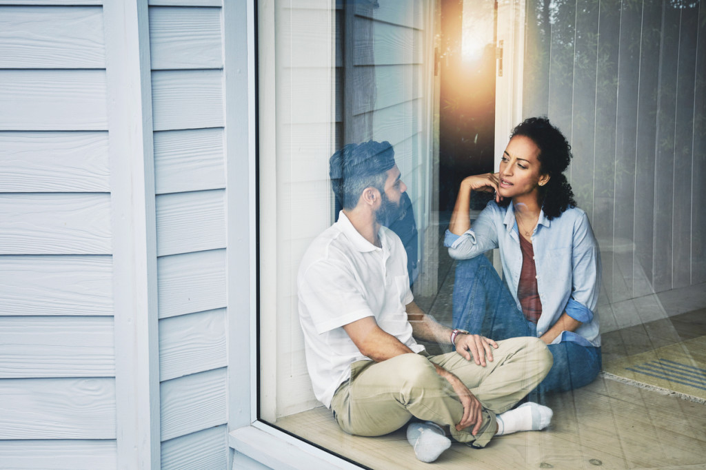 Shot of a relaxed couple enjoying the day at home together