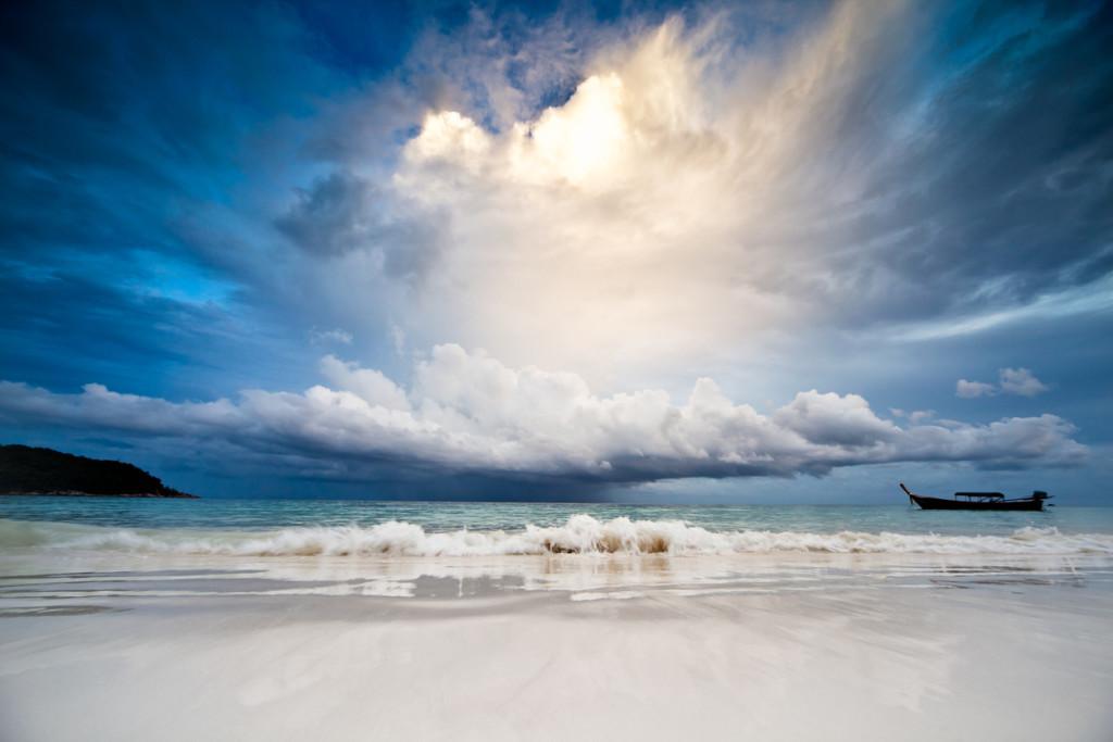 Rain in the sea