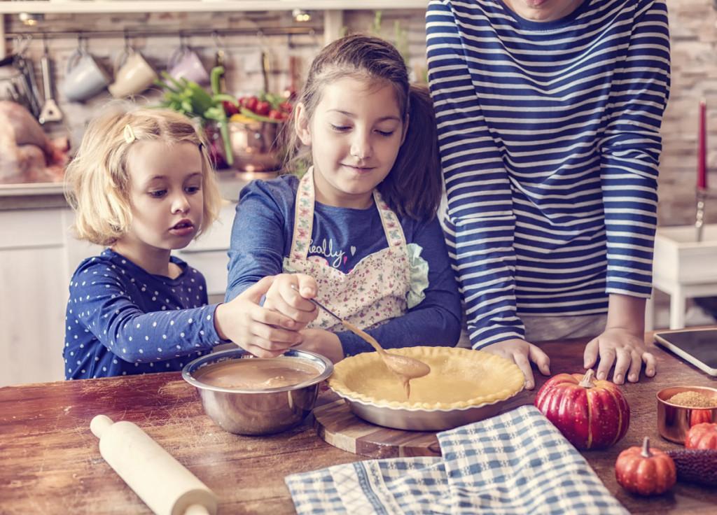 Preparing Homemade Pumpkin Pie for the Holidays