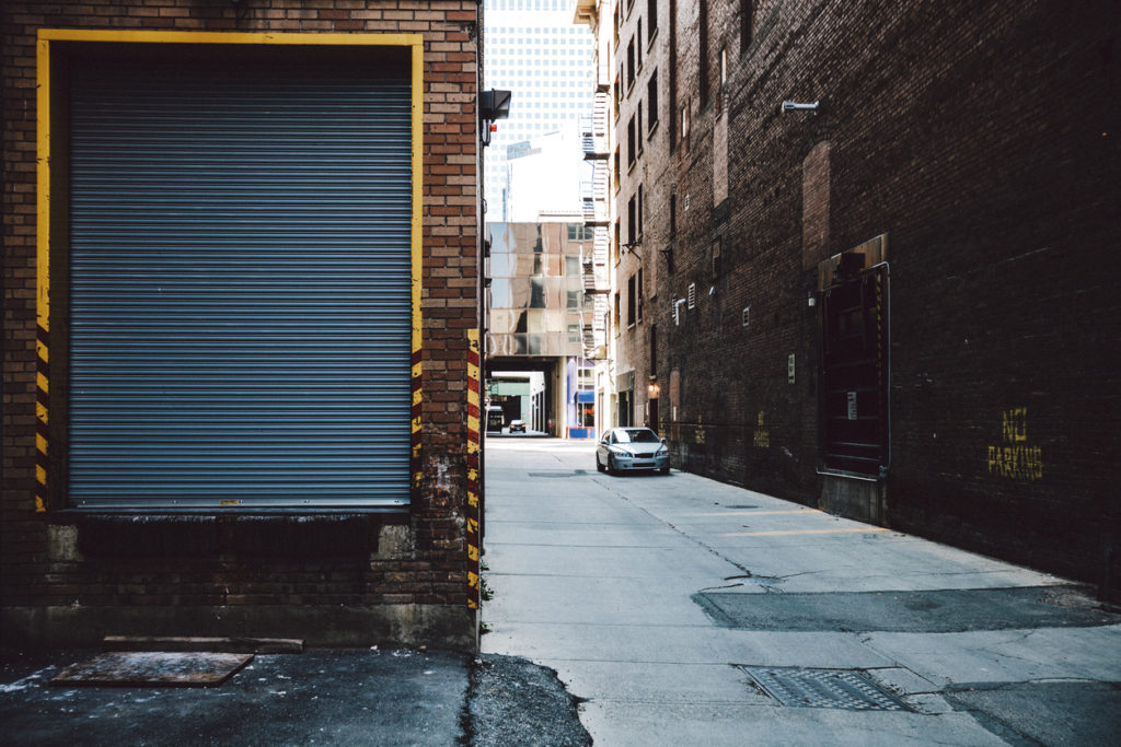Empty alley.