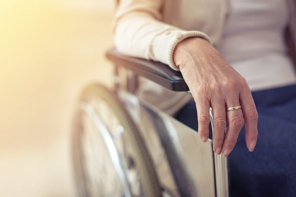 Cropped shot of a senior woman in a wheelchair