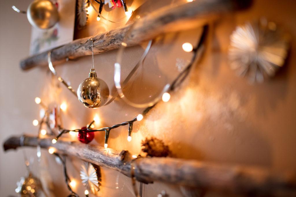 Christmas ornament with Christmas lights