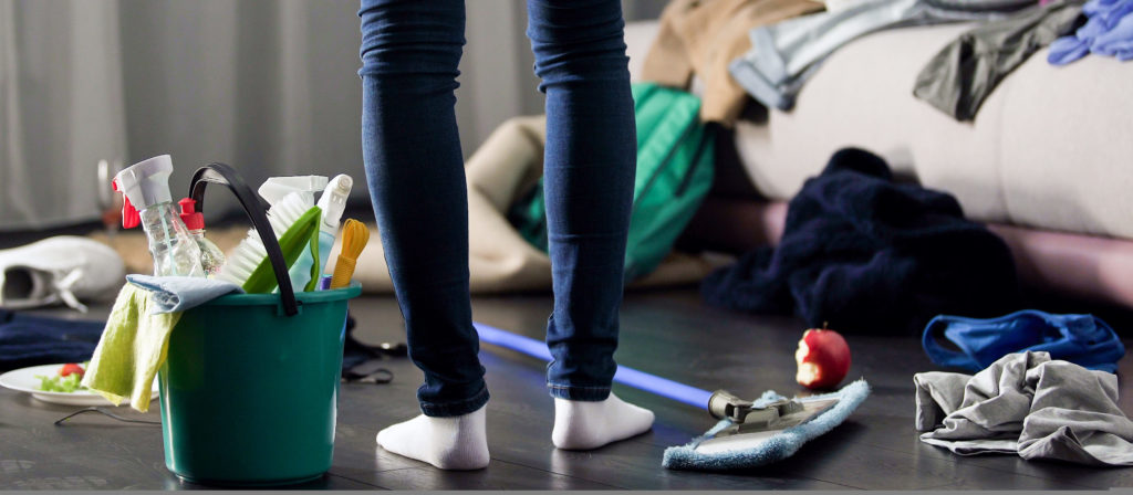 Woman horrified by mess left after party in her apartment, cleaning service