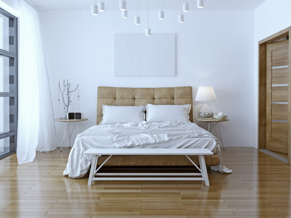 Interior design: Big modern Bedroom. 3D render