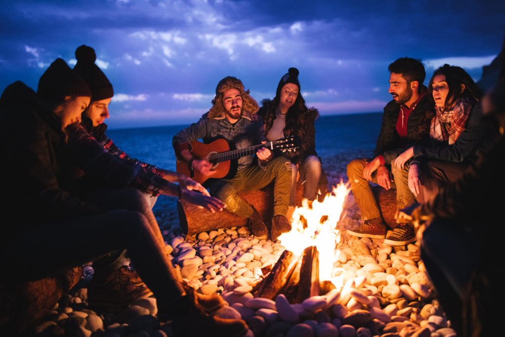 beach bonfires build friendships