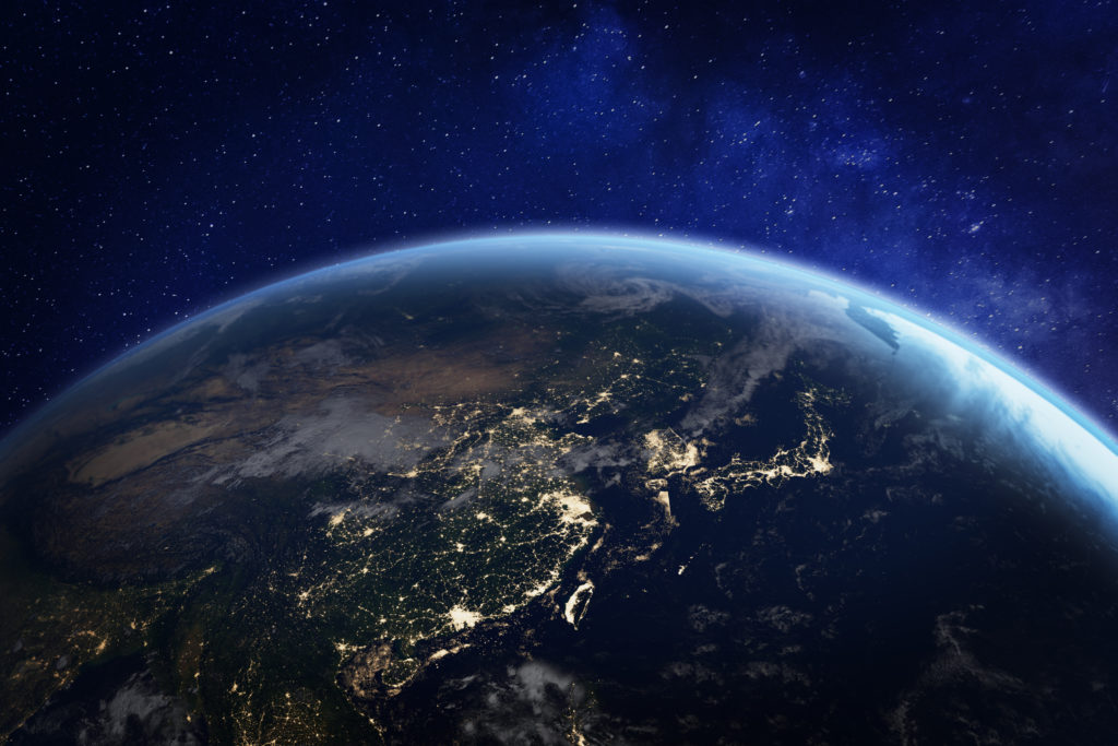 Picture of earth from outer space