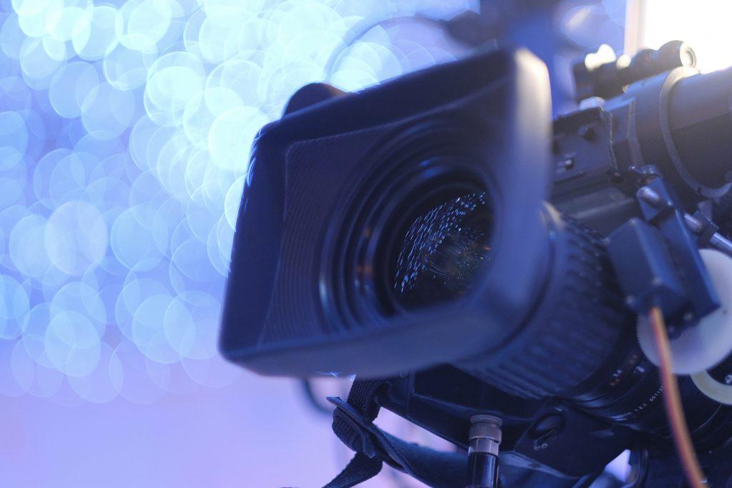 Camera lens up close