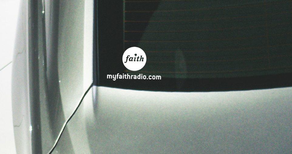 Faith Radio window decal