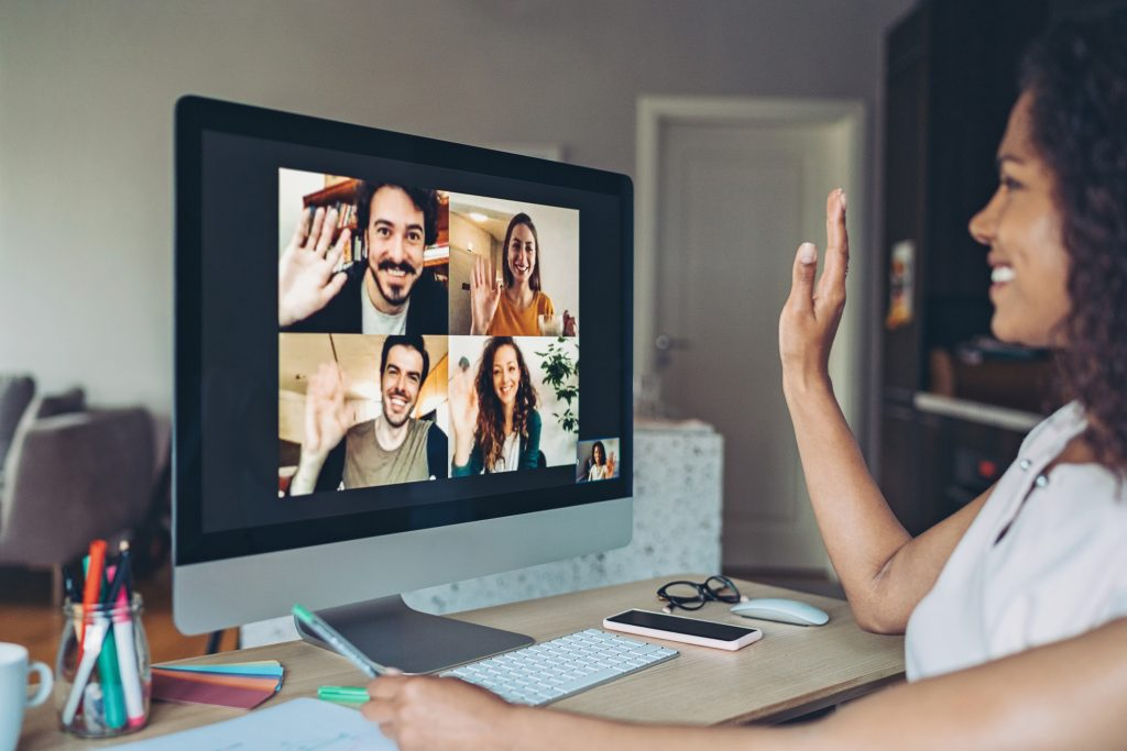 friends on a video call, keeping from feeling lonely